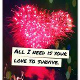 All i need is your love to survive