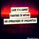 Love is a canvas