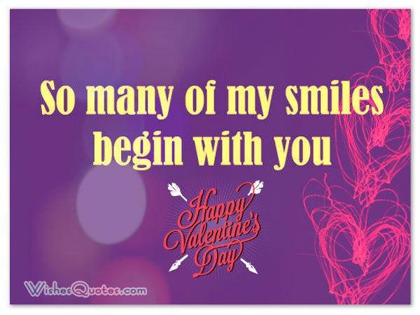 Valentines day love greetings so many of my smiles begin with you m4hsunfo