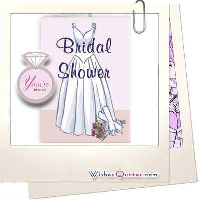 Genuine bridal shower quotes and invitation ideas bridal shower quotes and wishes filmwisefo Images