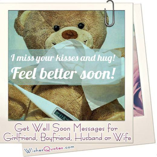 Get Well Soon Messages for your Girlfriend, Boyfriend, Husband or Wife