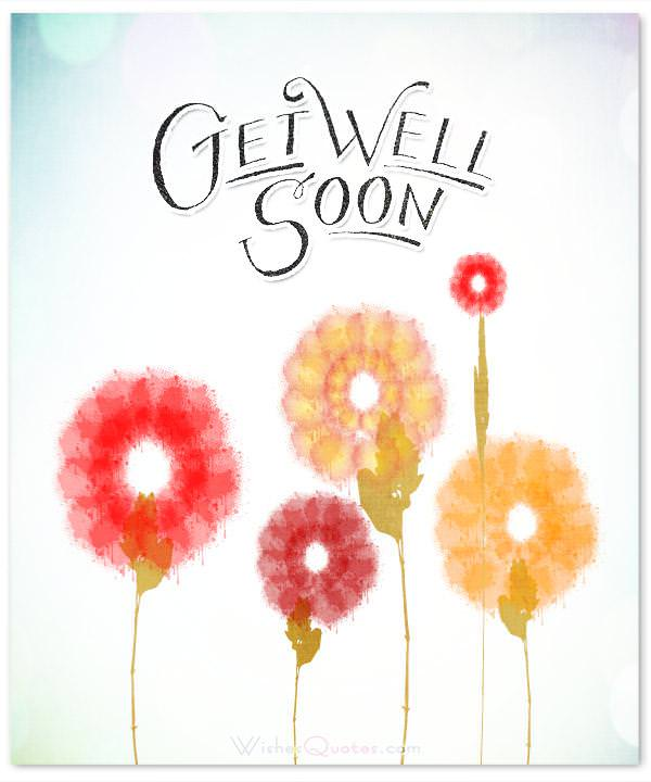 ... Gwr Well Soon Card Flowers