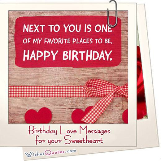 Birthday Love Messages For Your Beloved Ones By Wishesquotes