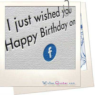 Facebook Birthday Wishes