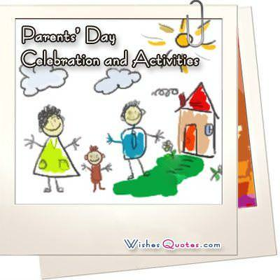Parents day celebration and activities