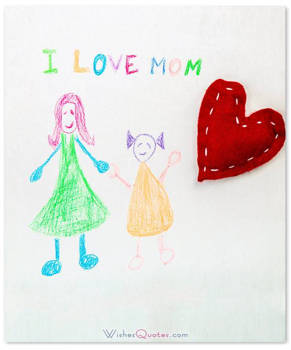 I Love Mom. Parents' Day Wishes