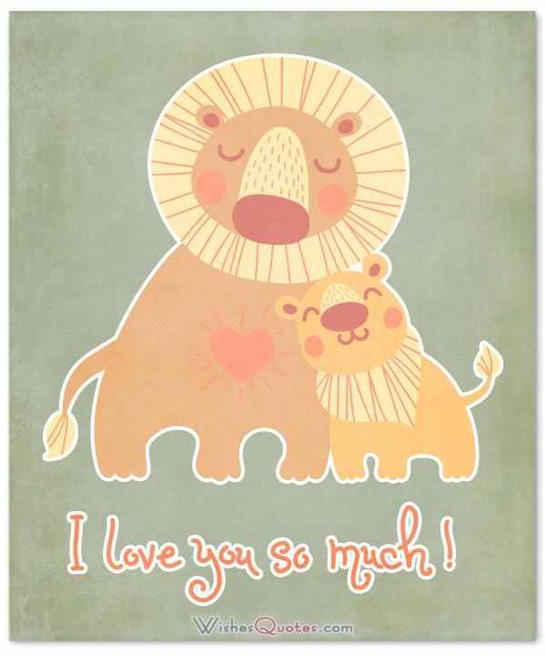 I love you so much! Parents' Day Card