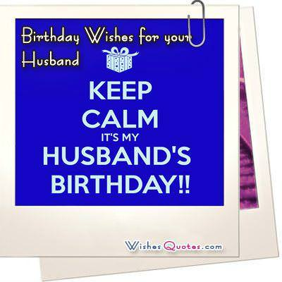 Happy Birthday wishes for your Husband