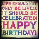 Birthday Wishes Card - Life should not only be lived, it should be celebrated!