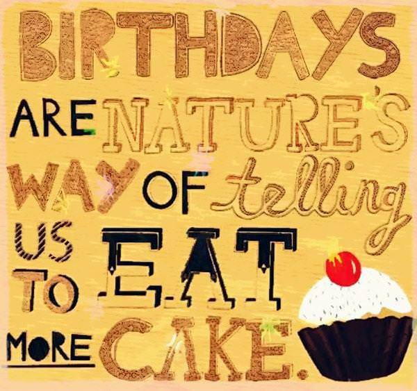 Birthday Sayings Quotes Cake And
