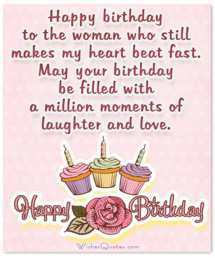 Sweet Birthday Wishes For Wife