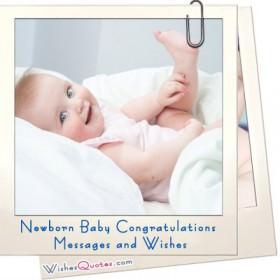Newborn Baby Congratulations Messages