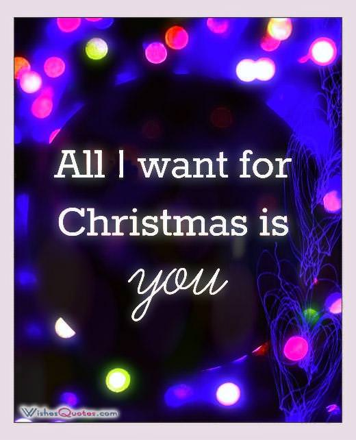 All I Want For Christmas Is You ...