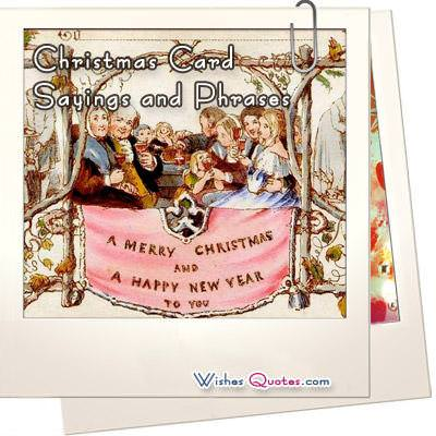 christmas card sayings and phrases wishesquotes