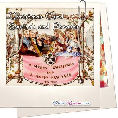 Christmas Card Sayings and Phrases