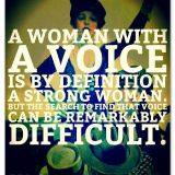 A woman with a voice