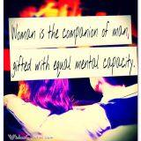 Woman is the companion of man