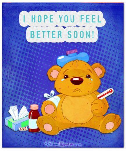 I hope you feel better soon!