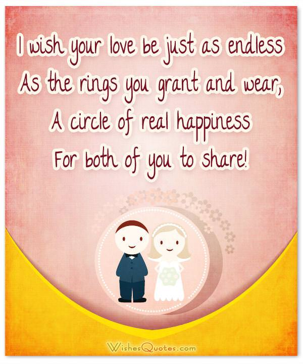 Romantic wedding wishes and heartfelt cards for a newly married couple romantic wedding wishes i wish your love be just as endless as the rings you m4hsunfo