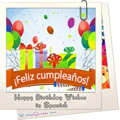 Birthday Wishes in Spanish Deseos de Feliz Cumplea os en Espa a – Birthday Greeting in Spanish