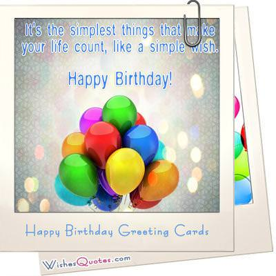Happy Birthday Greeting Cards WishesQuotes