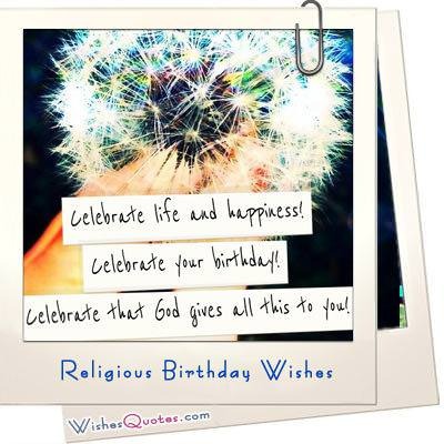 Religious Birthday Wishes And Card Messages WishesQuotes