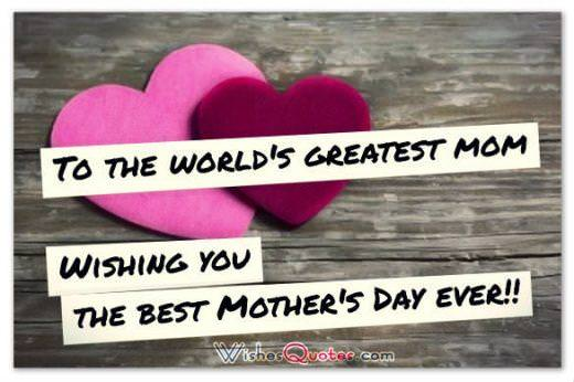 Happy Mother's Day Cards - To the world's greatest mom!