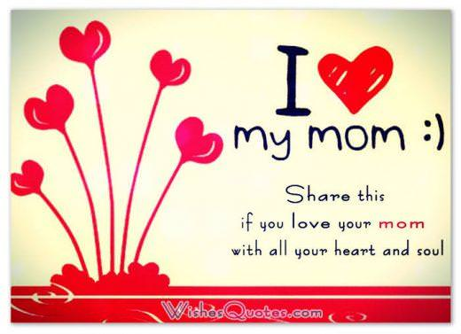 Happy Mother's Day Cards - I love my mom
