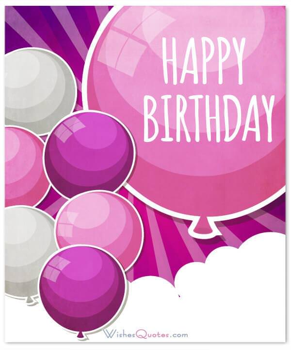 Happy Birthday Wish With Pink Balloons Wishes For Friends Best