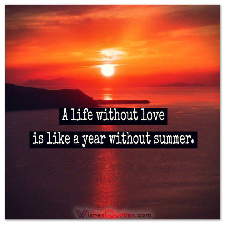Summer Messages and Quotes - A life without love is like a year without summer