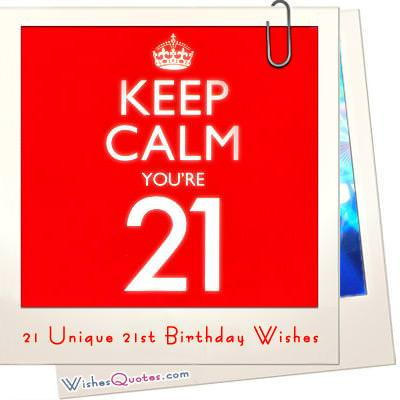 21 Unique 21st Birthday Wishes WishesQuotes