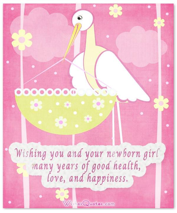 Congratulations for Baby Girl. What to Write in a Newborn Baby Girl Card.