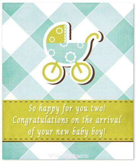 What to write in a newborn baby boy card