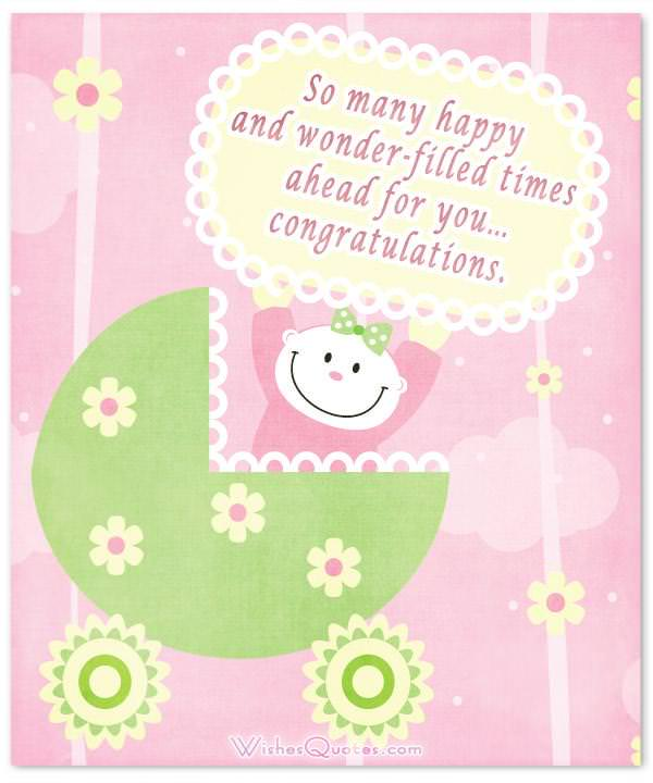 Newborn Baby Girl Card with Cute Message