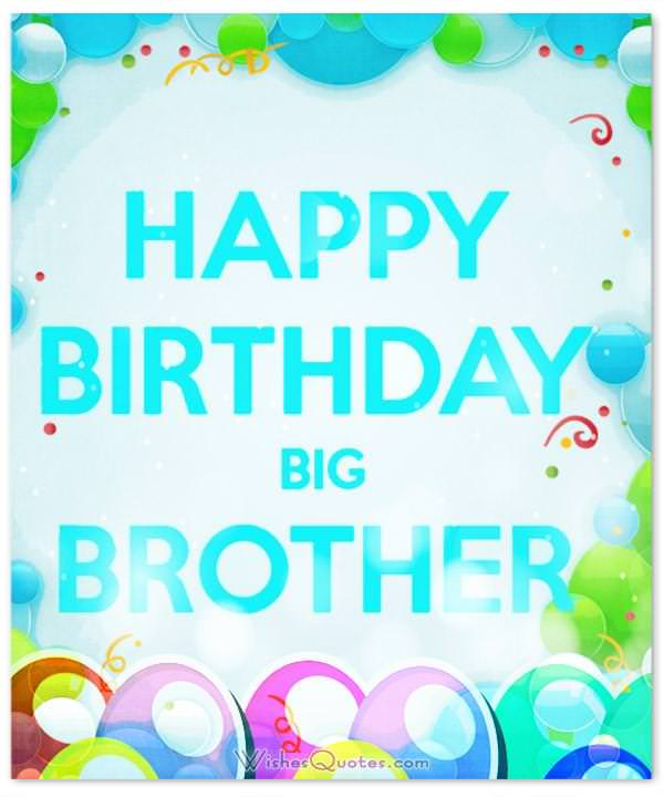 Happy Birthday Big Brother