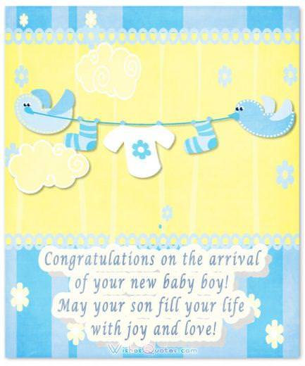 Image with Cute Congratulations for Baby Boy
