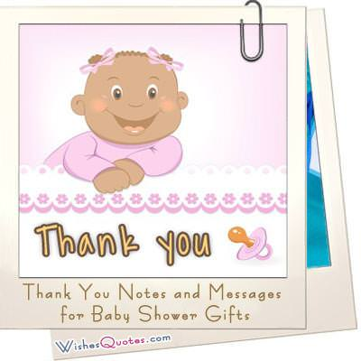 sample thank you notes and messages for baby shower gifts