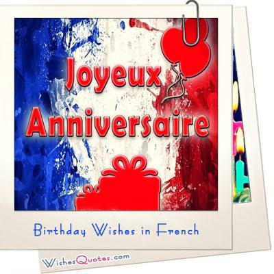 Birthday wishes in french
