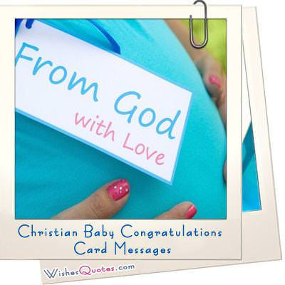 Christian messages baby cards