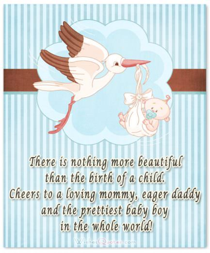 Newborn Baby Boy Card with Cute Message