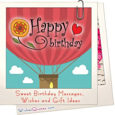 Sweet birthday messages gift ideas