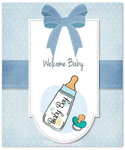 Newborn Baby Βοy Card