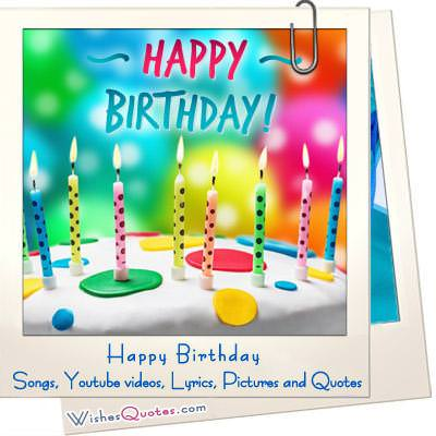 Happy Birthday Songs Videos Lyrics