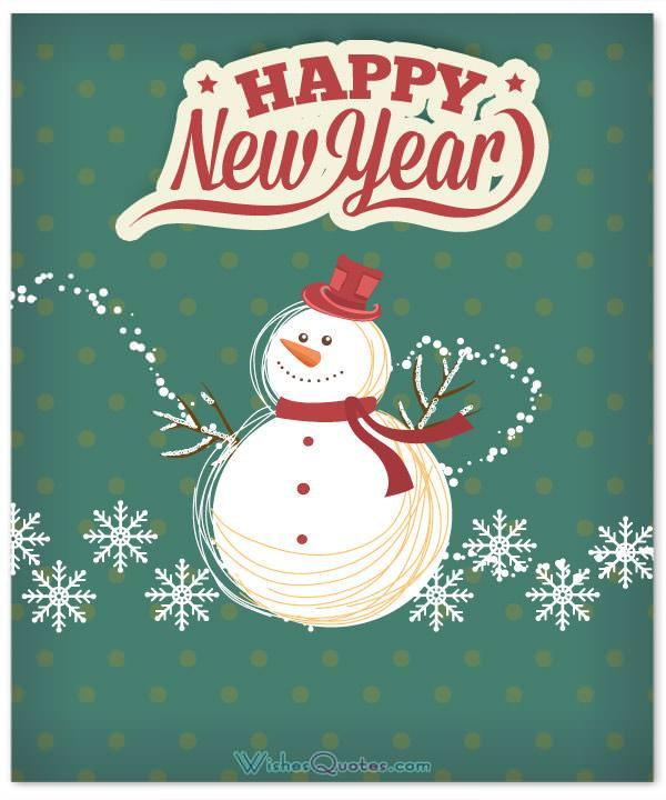 cute happy new year card