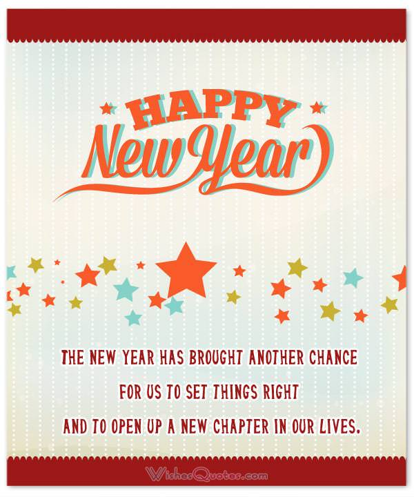 new chapter in our lives new year card