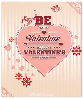 Be my valentine card happy