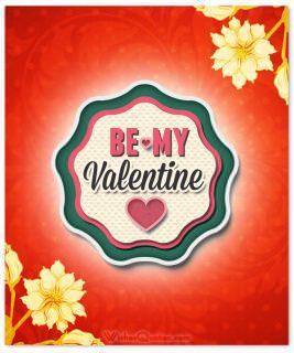 Be my valentine flowers