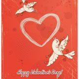 Happy valentines day card birds