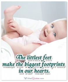 Littlest feet baby quote