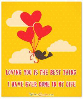 Loving you is the best thing